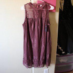 NO BOUNDARIES LITTLE WOMEN HIGH COLLAR LACE DRESS